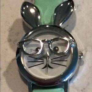 Hipster rabbit mint watch